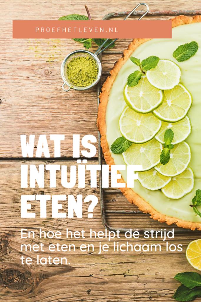 wat is intuïtief eten - Proef het leven